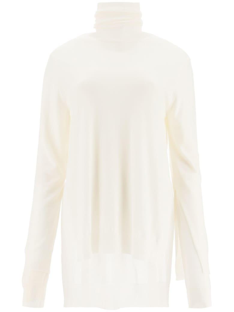 Marni Double Layer Turtleneck Sweater - STONE WHITE (White)
