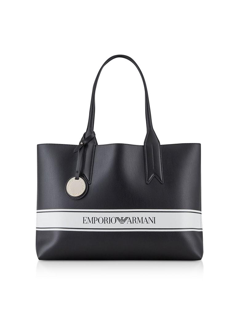 Emporio Armani Small Reversible Tote Bag - Black / White