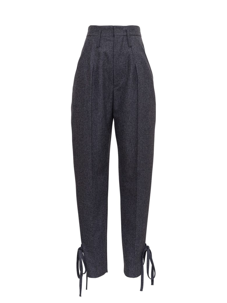 Isabel Marant High Waisted Trousers - Grey