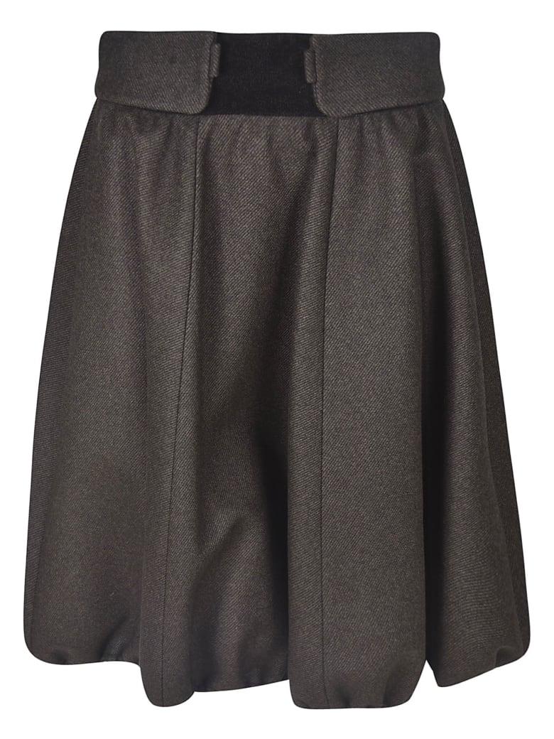 Nina Ricci Mid-length Ruffled Detail Skirt - Grey