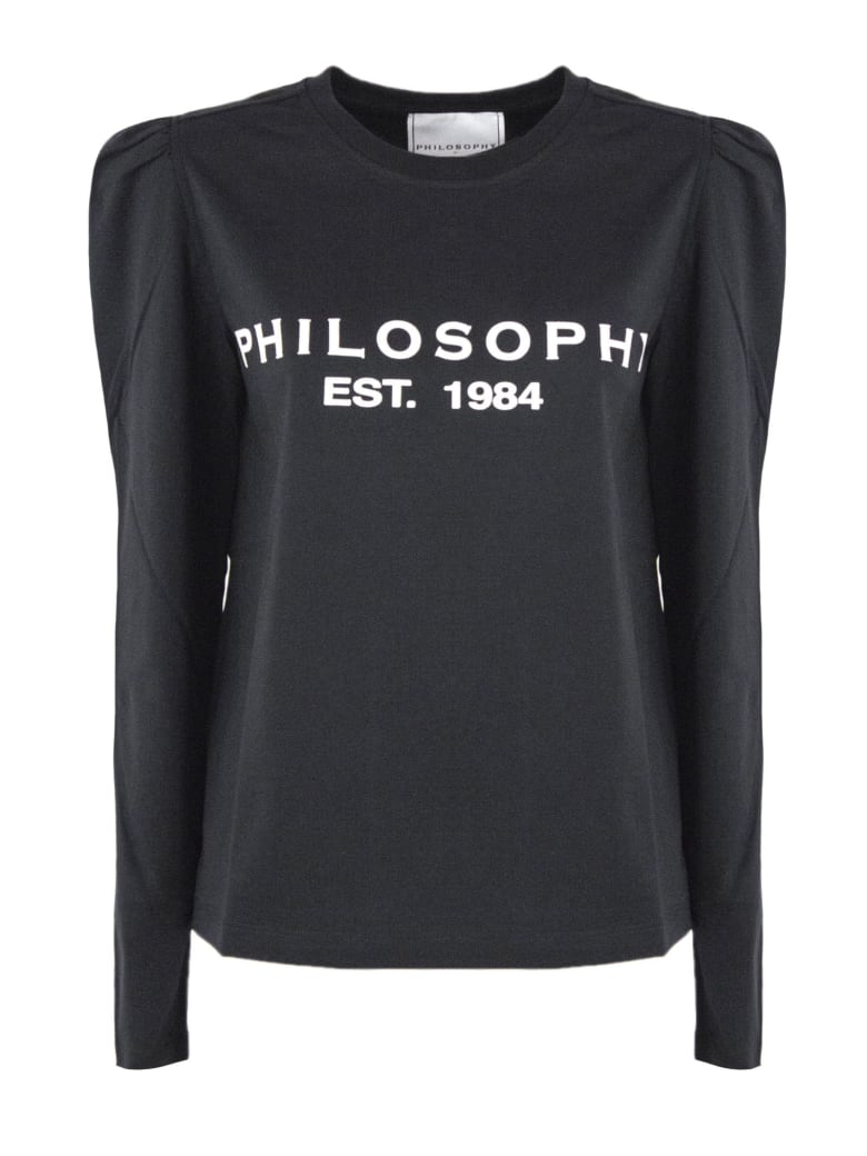 Philosophy di Lorenzo Serafini Black Cotton Jersey T-shirt - Nero