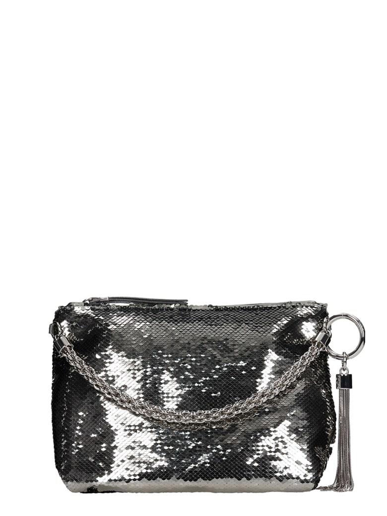 Jimmy Choo Callie  Shoulder Bag In Silver Leather - silver