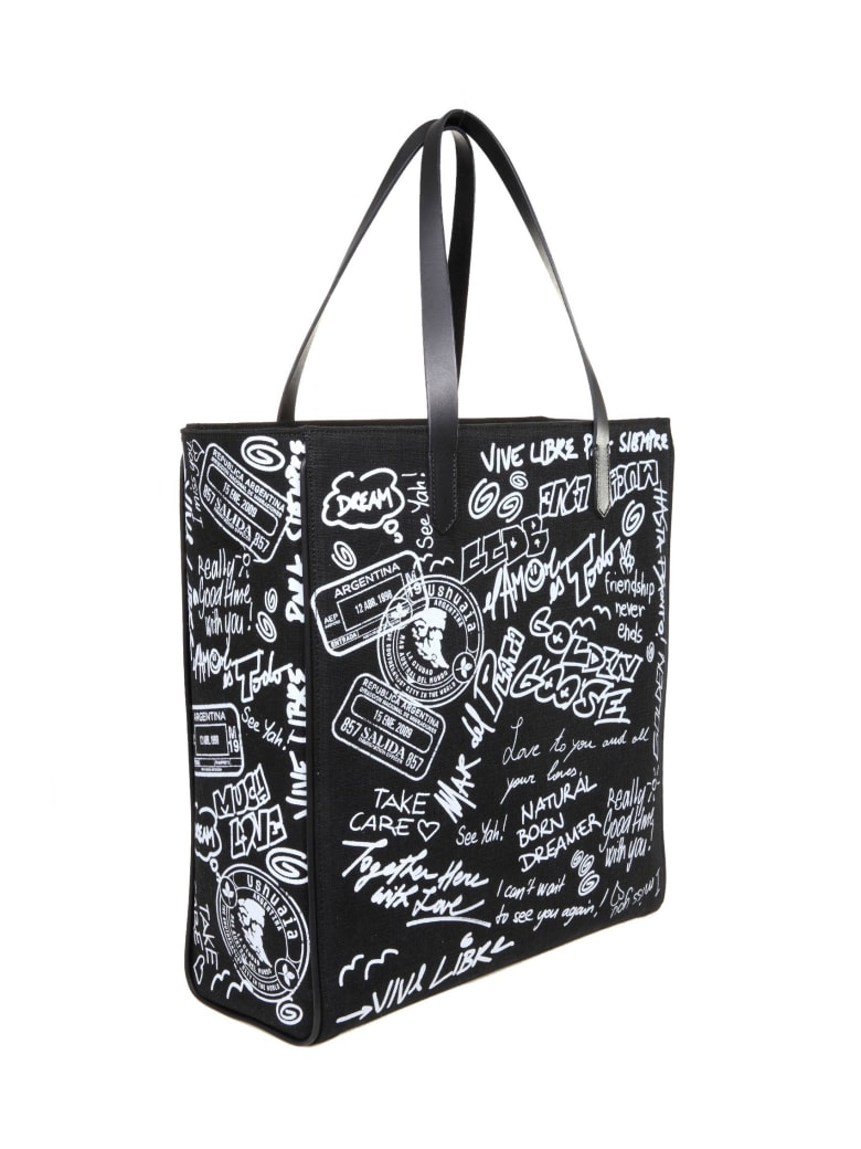 Golden Goose California Buying Canvas With Graffiti - White/Black
