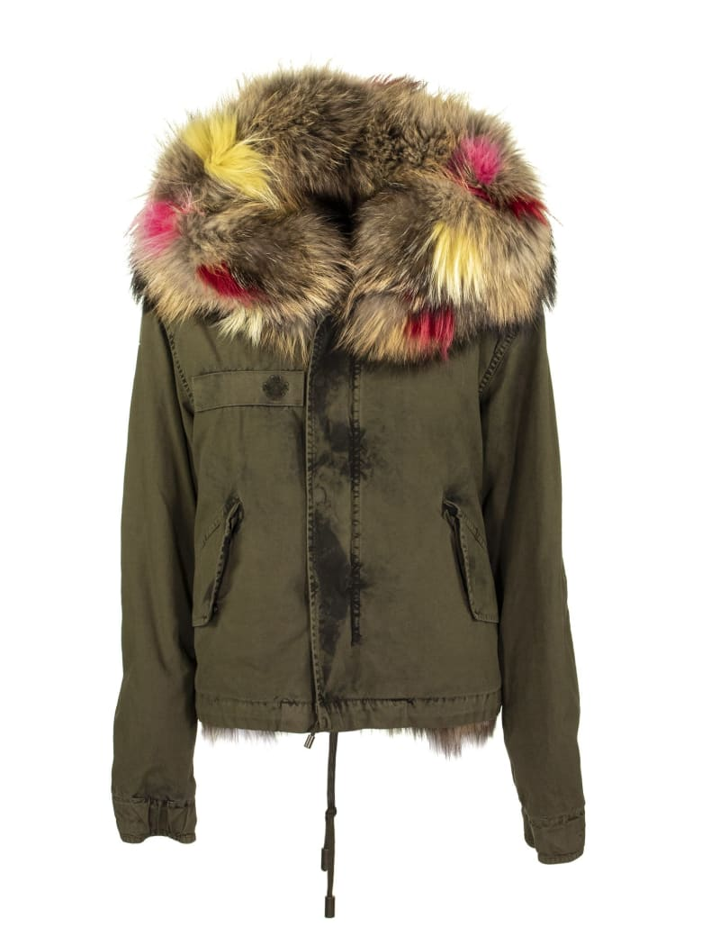 Mr & Mrs Italy Parka Crop.beige - Military Green