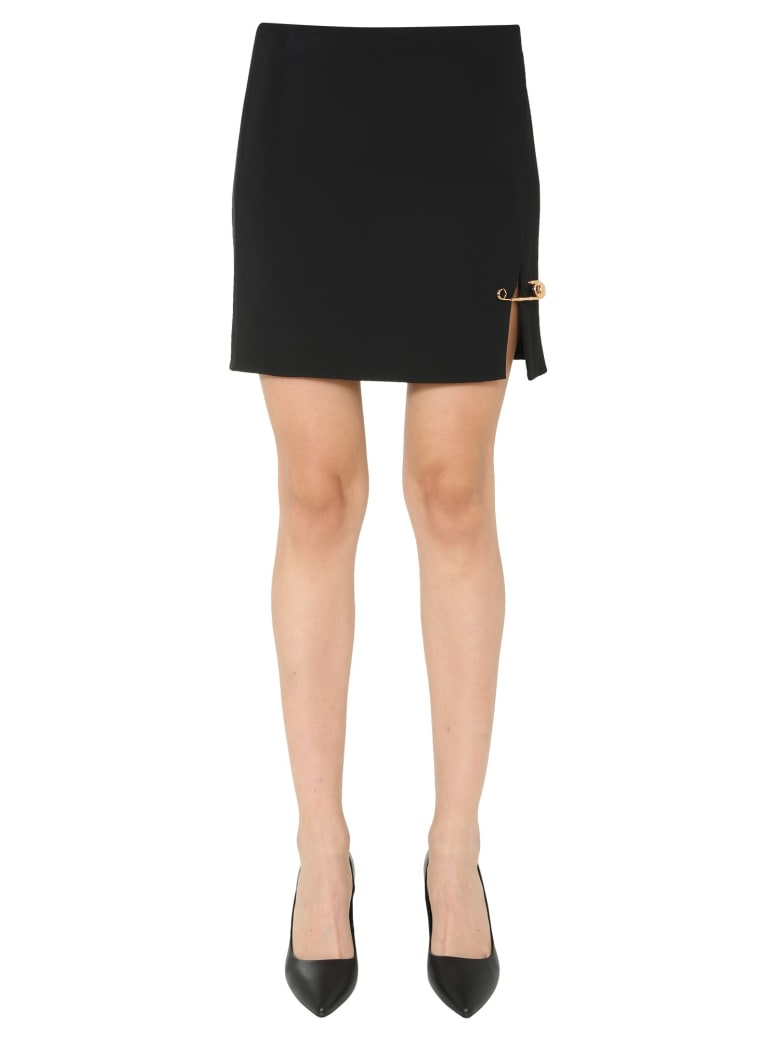 Versace Mini Skirt With Detail - NERO