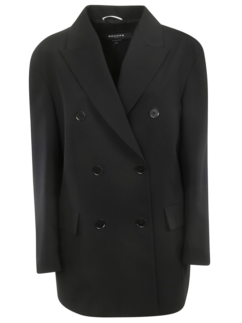 Rochas Double Breasted Blazer - Black