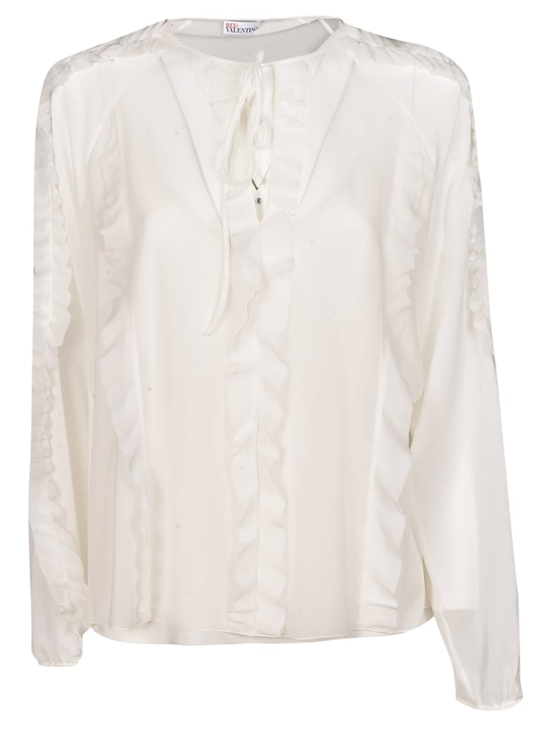 RED Valentino Ruffled Blouse - White
