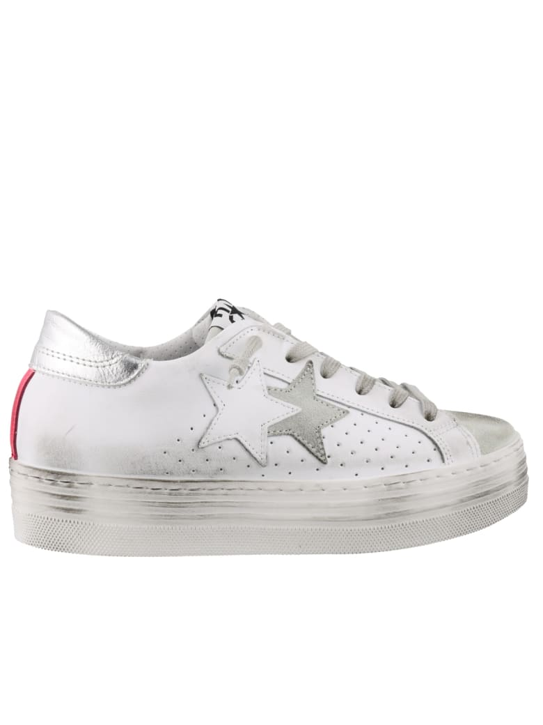 2Star Platform Sneakers - White