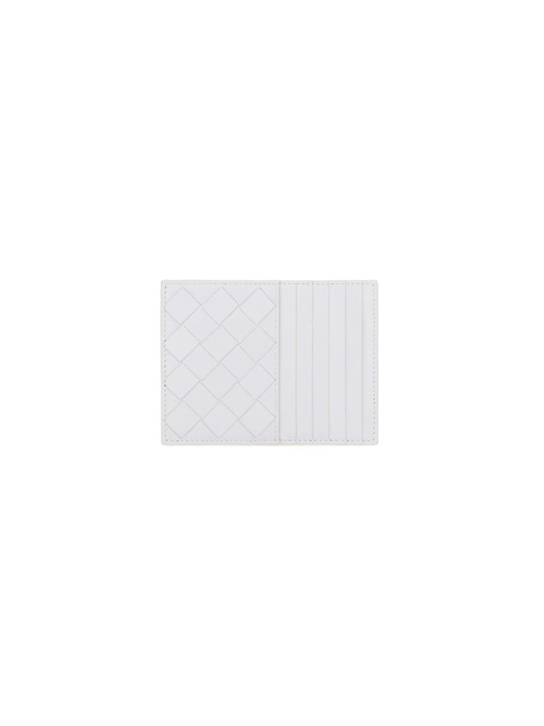 Bottega Veneta Card Holder - White/white/wh-sil