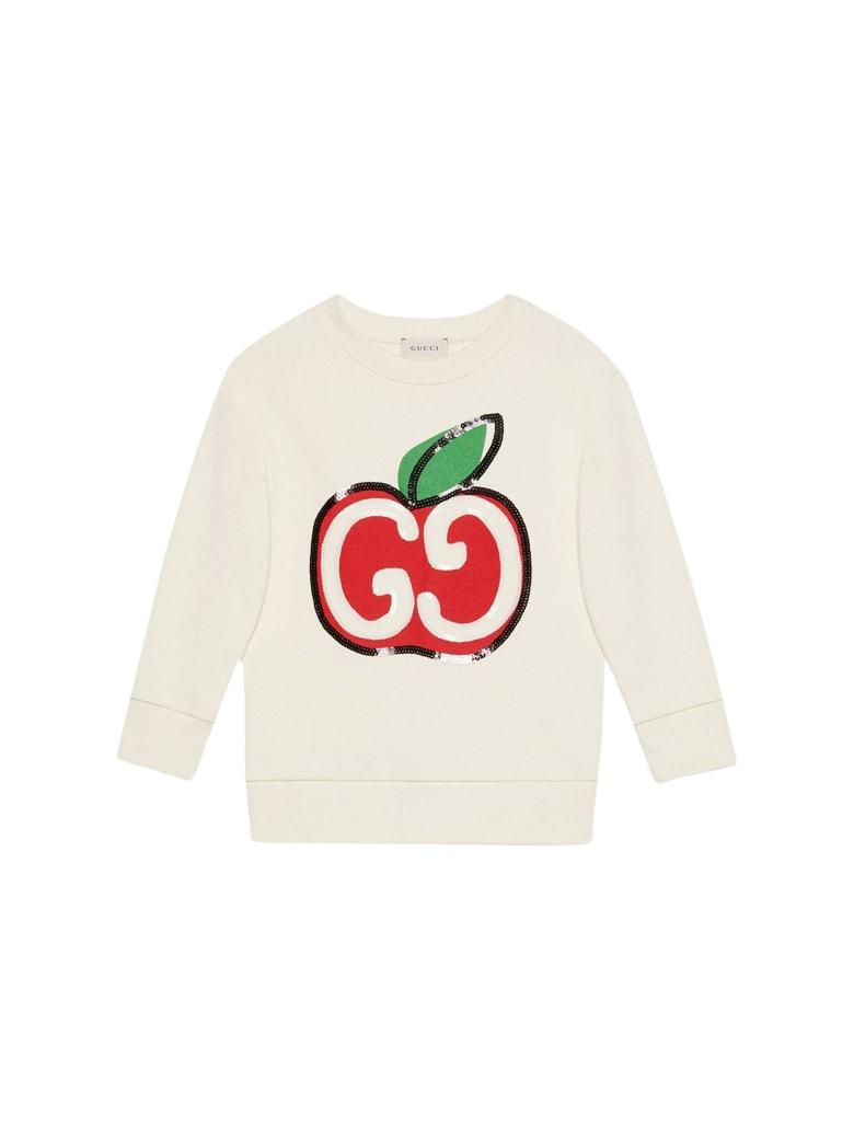 Gucci Kids Gg Sweatshirt With Print - White