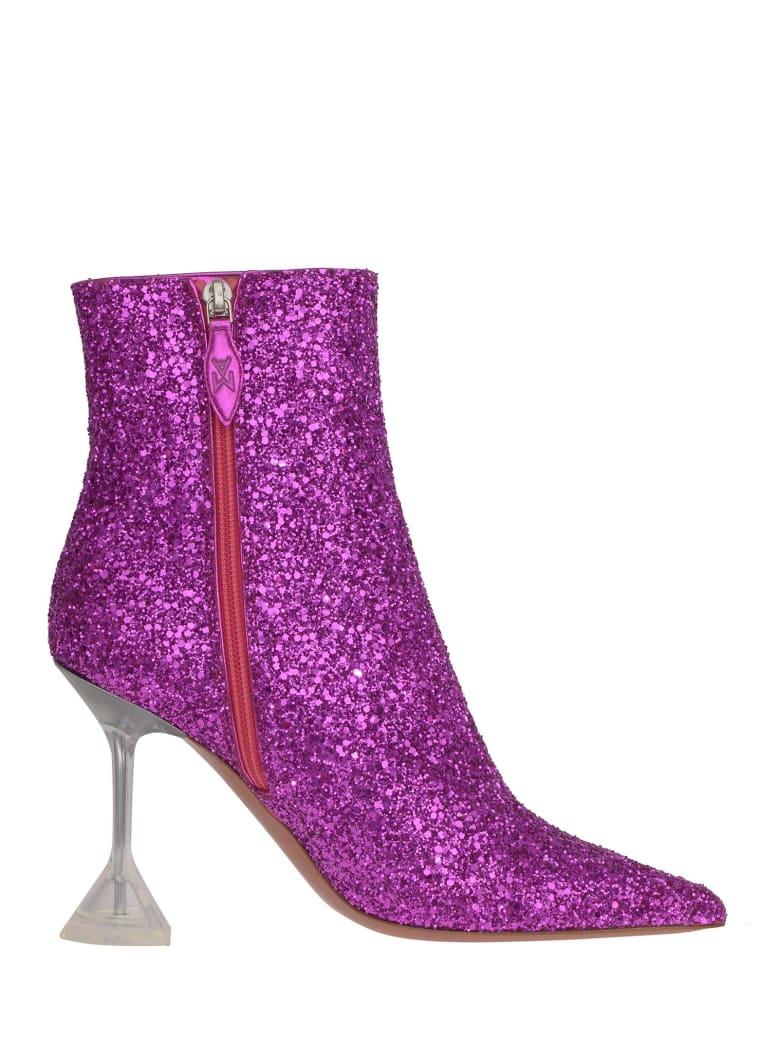 Amina Muaddi Boots - Purple