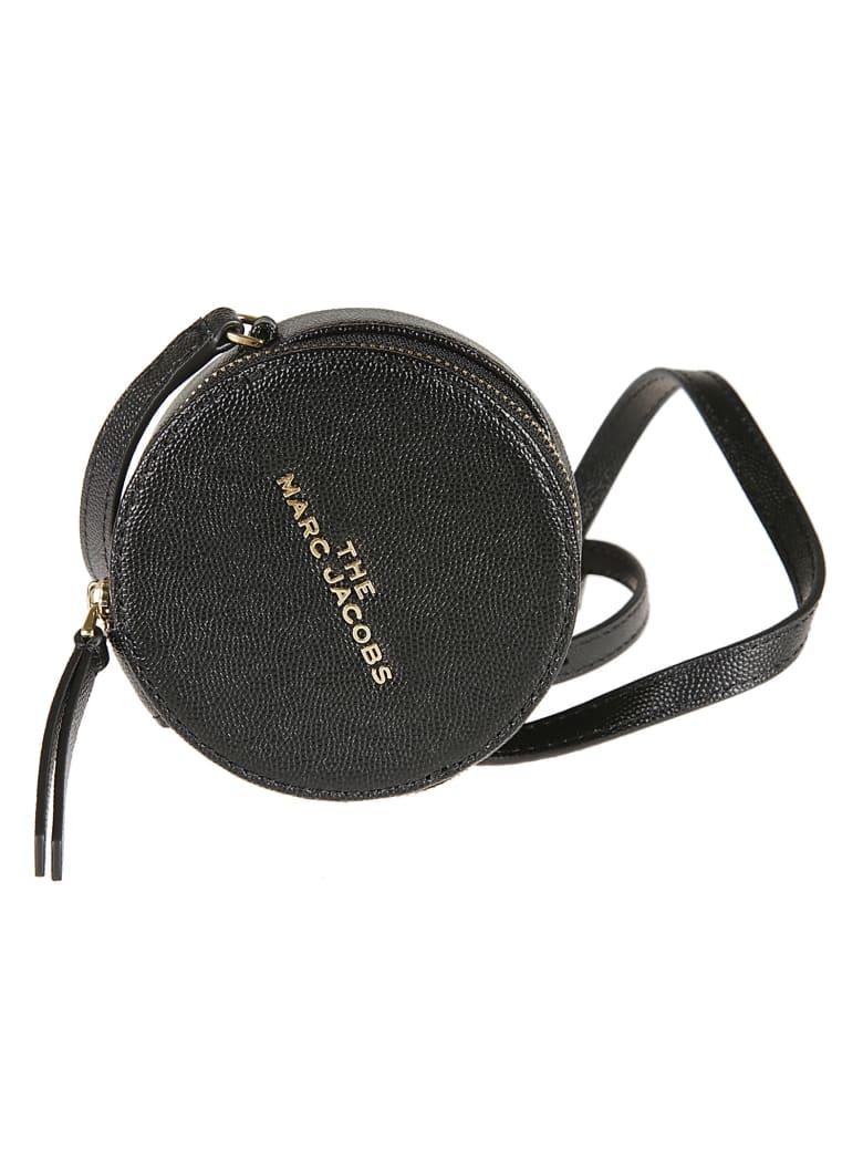 Marc Jacobs Logo Plaque Zip-around Shoulder Bag - Black