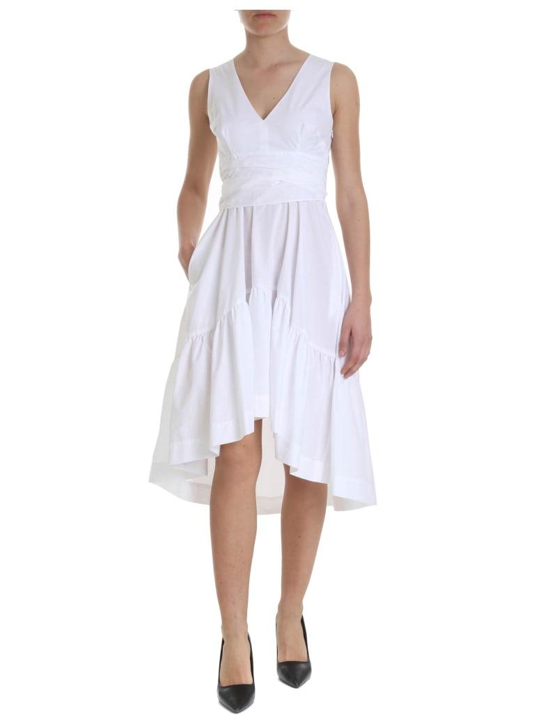 Parosh Caktunix Cotton Dress - WHITE