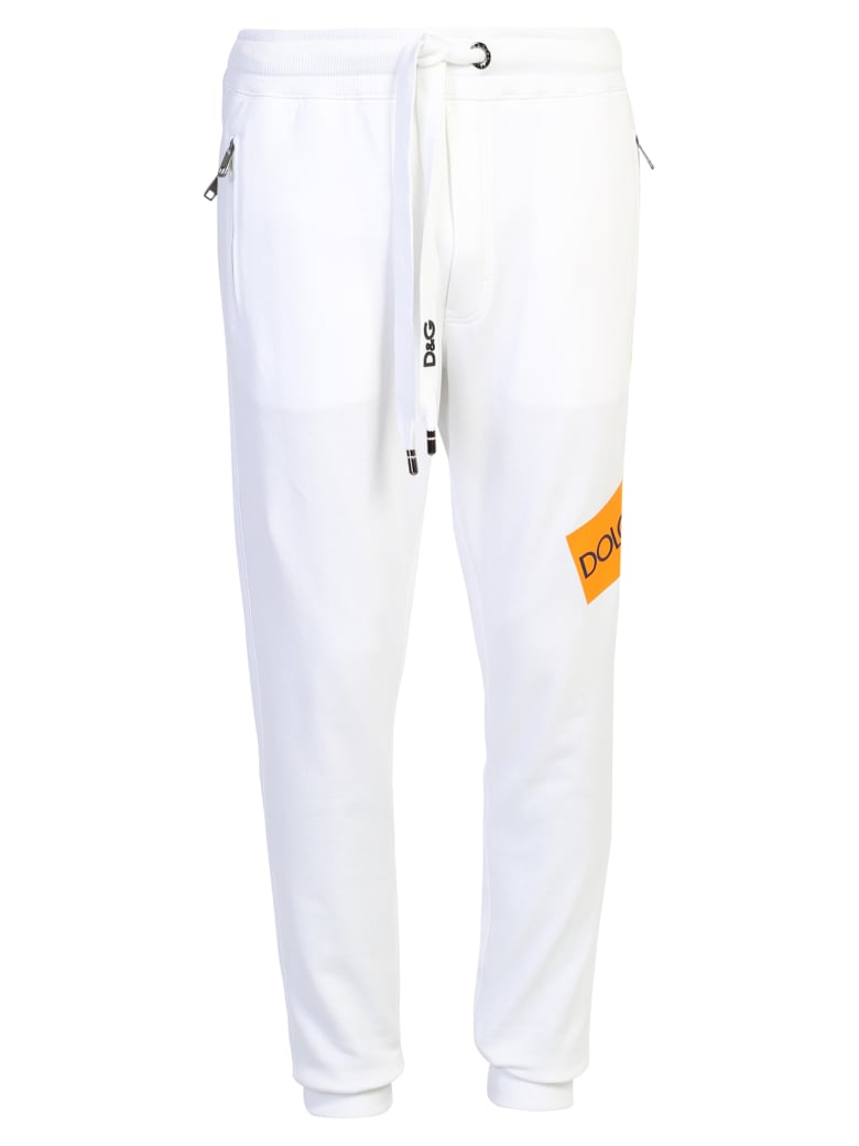 Dolce & Gabbana Branded Trousers - White
