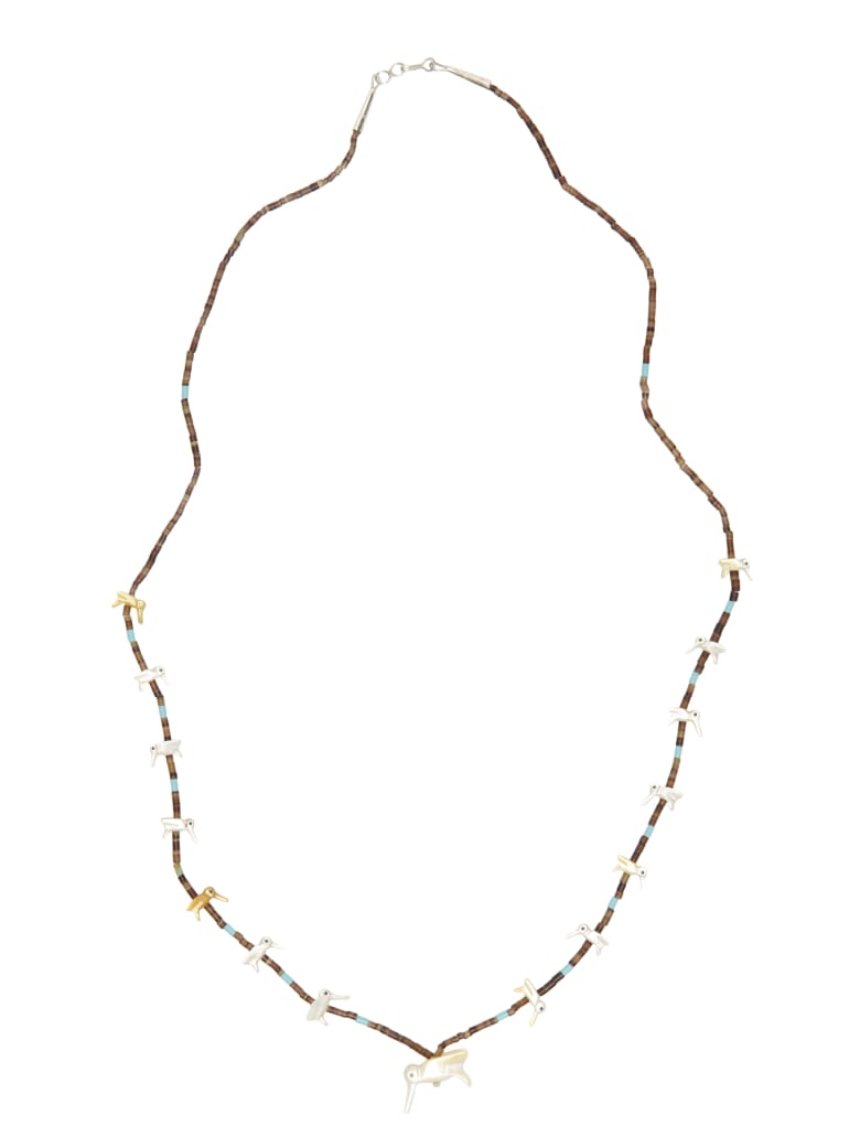 Jessie Western Hummingbird Necklace - MULTICOLOR (White)