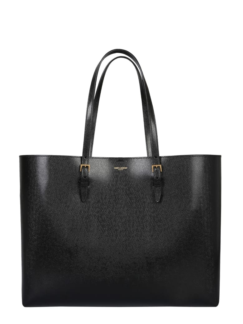 Saint Laurent Shopping Bag E / W Boucle - NERO