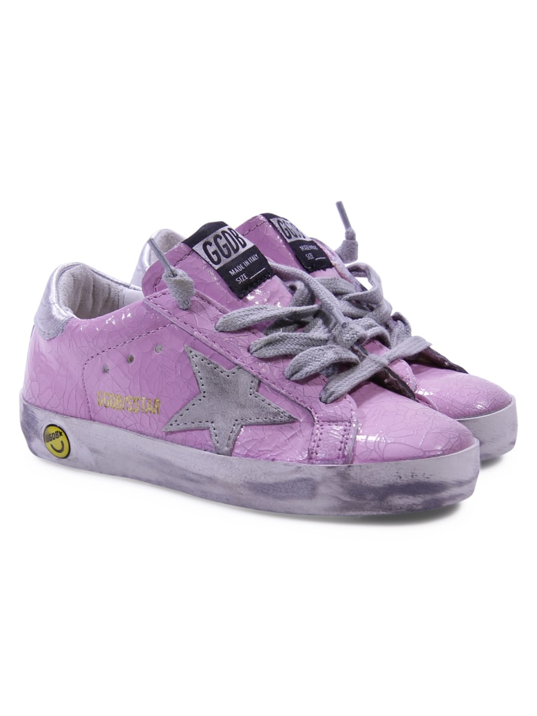 buy online 74bfe 93cd7 Best price on the market at italist | Golden Goose Golden Goose Pink Patent  Leather Sneakers