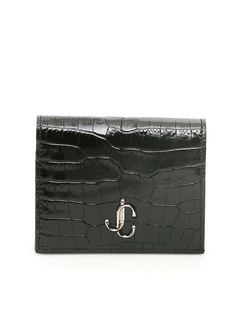 Jimmy Choo Monogram Hanne Wallet - BLACK (Black)