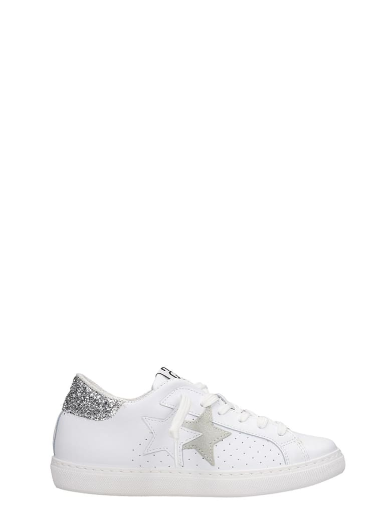2Star Sneakers In White Leather - white