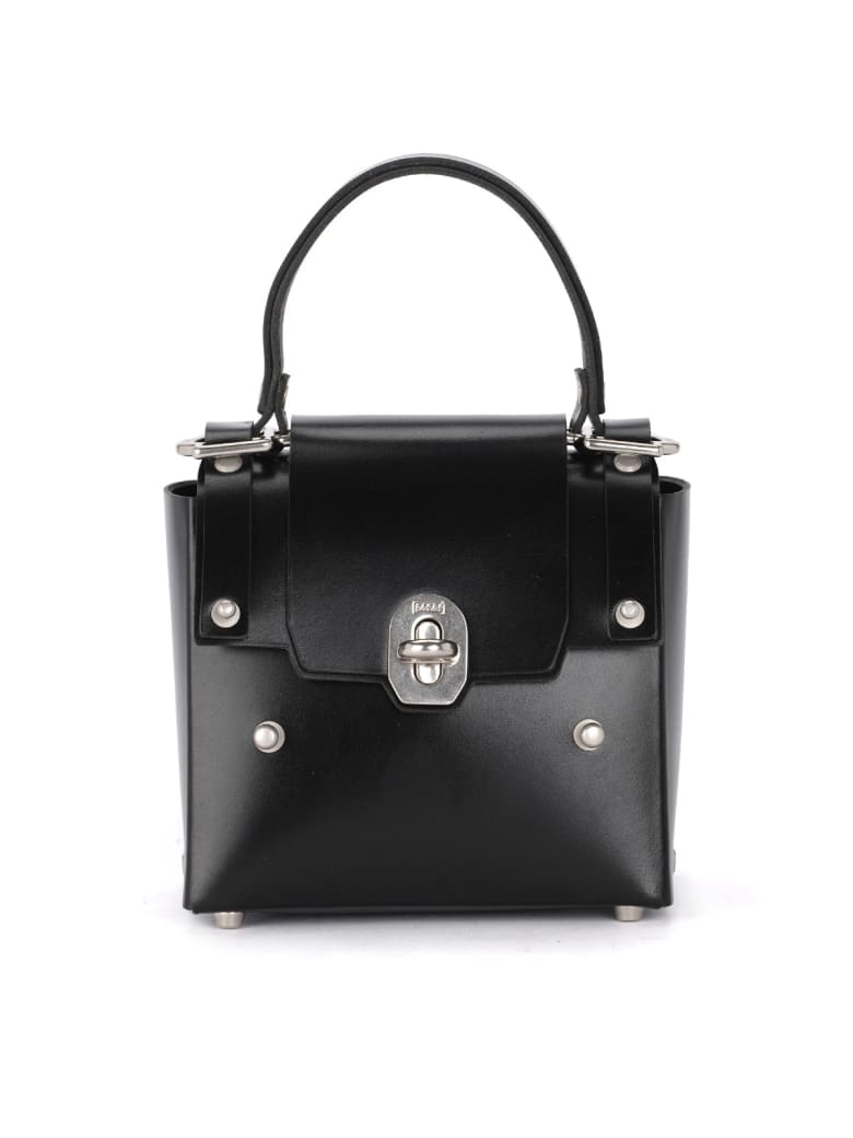 Niels Peeraer Ribbon 2pm Small Black Leather Bag - NERO