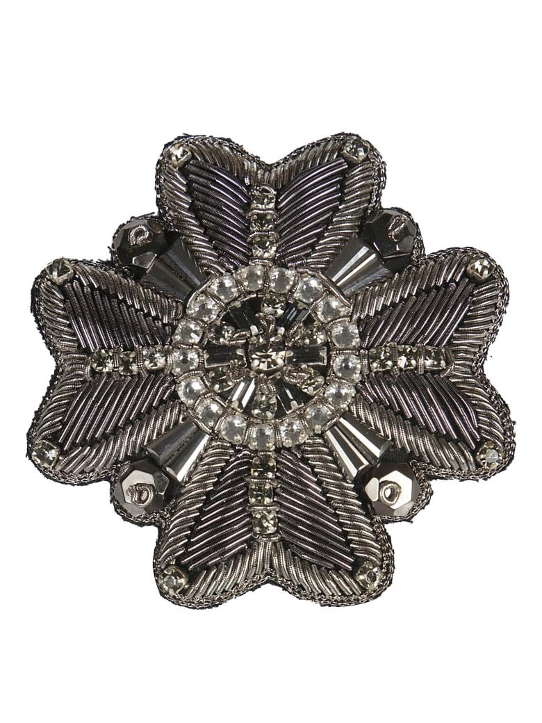 Rochas Military Brooch - Silver
