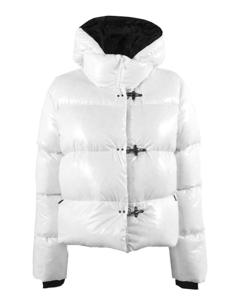 Fay 3 Hooks White Down Jacket - Bianco