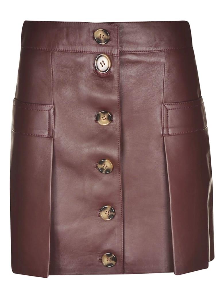 Dodo Bar Or Buttoned Short Skirt - Red