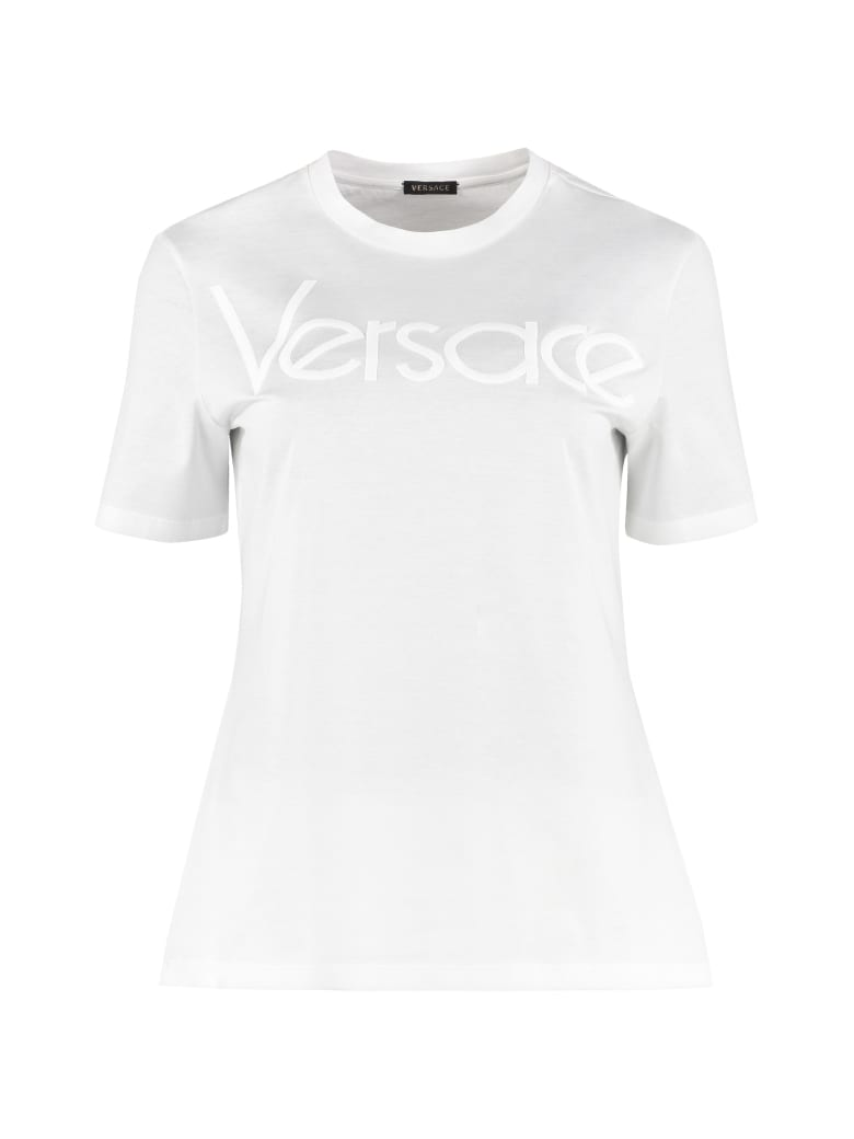 versace-cotton-t-shirt-with-embroidered-logo by versace