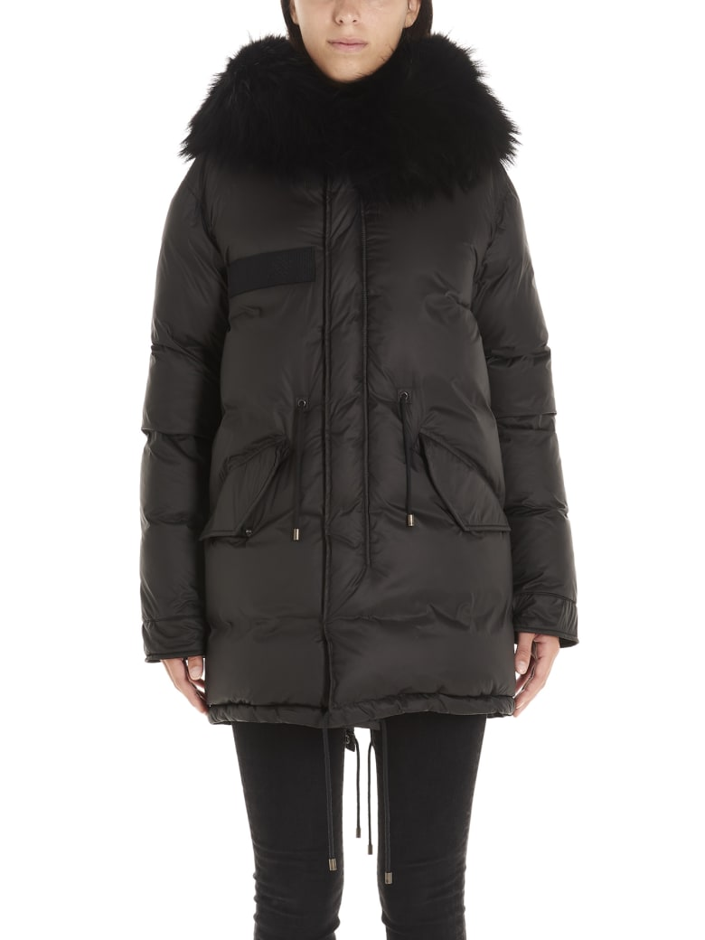 Mr & Mrs Italy 'parka Puffer' Jacket - Black