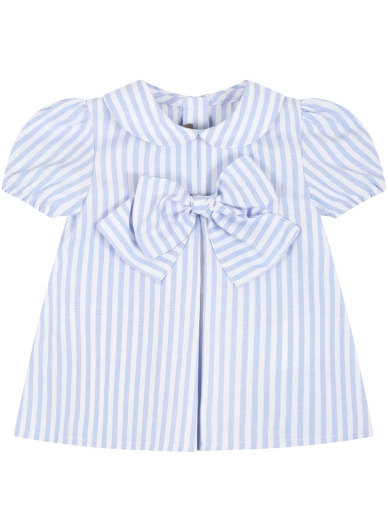 Little Bear Multicolor Shirt For Baby Girl - Light Blue