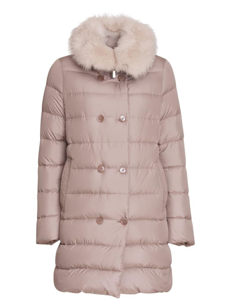Moorer Detachable Fur Trimmed Jacket - BIANCO