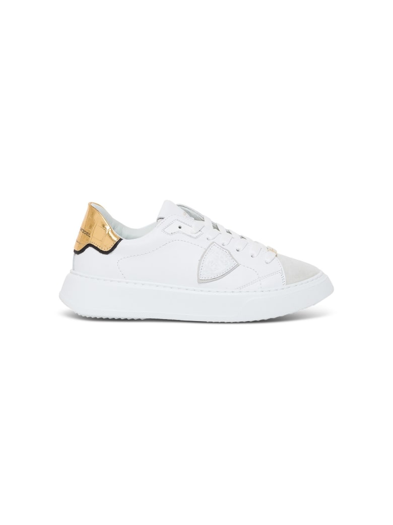 Philippe Model Temple Veau Leather Sneakers - White
