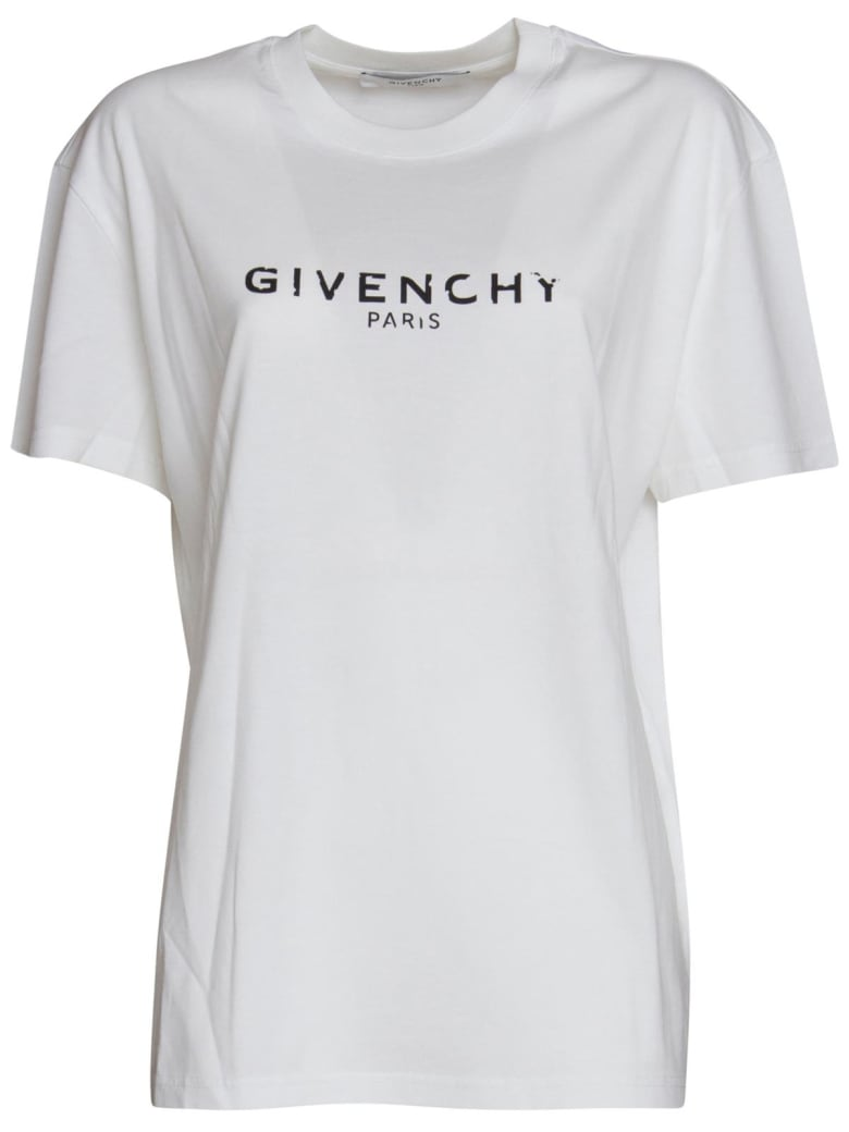 Givenchy Logo Tshirt In White by Givenchy