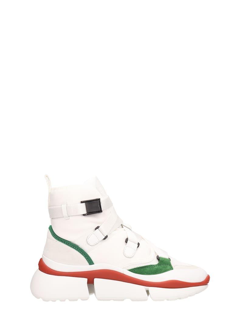Chloé Sonnie High Sneakers - white