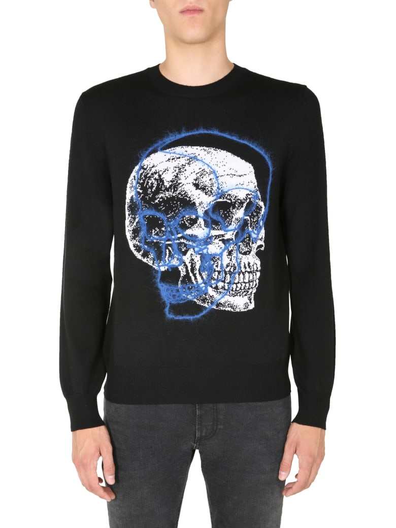 Alexander McQueen Crew Neck Sweater - Black/ivory