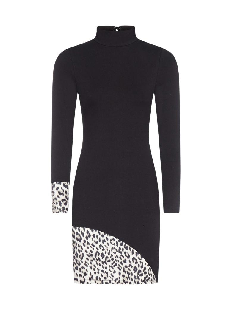 Alice + Olivia Delora Stretch Viscose Mini Dress - Black combo