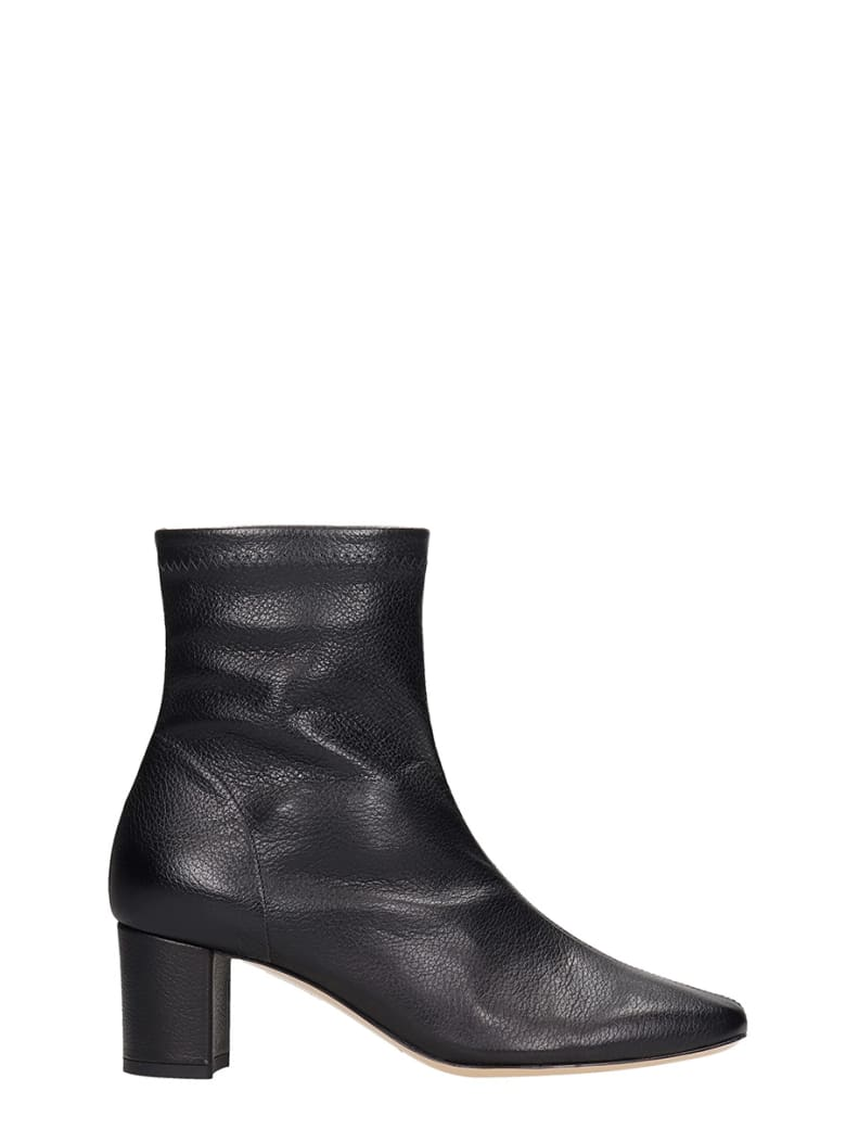 Fabio Rusconi High Heels Ankle Boots In Black Leather - black