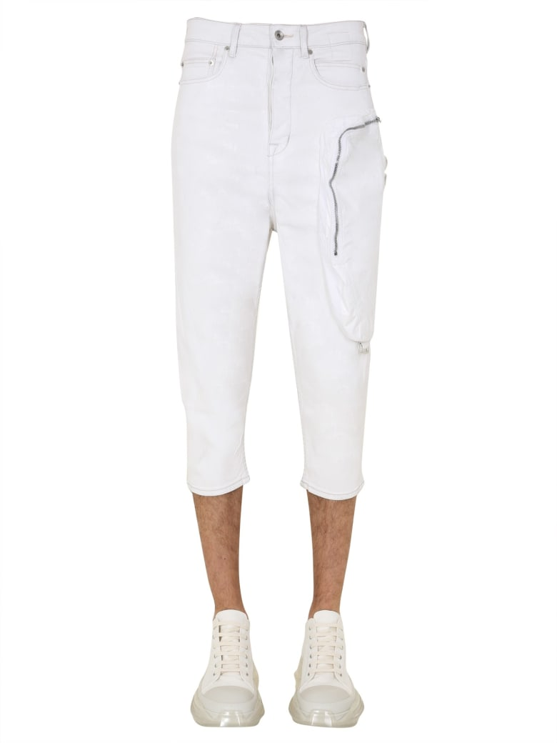 DRKSHDW Cropped Jeans - BIANCO