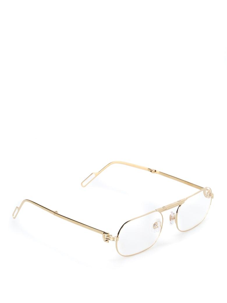 Cartier Eyewear CT0115O Eyewear - Gold Gold Transparent