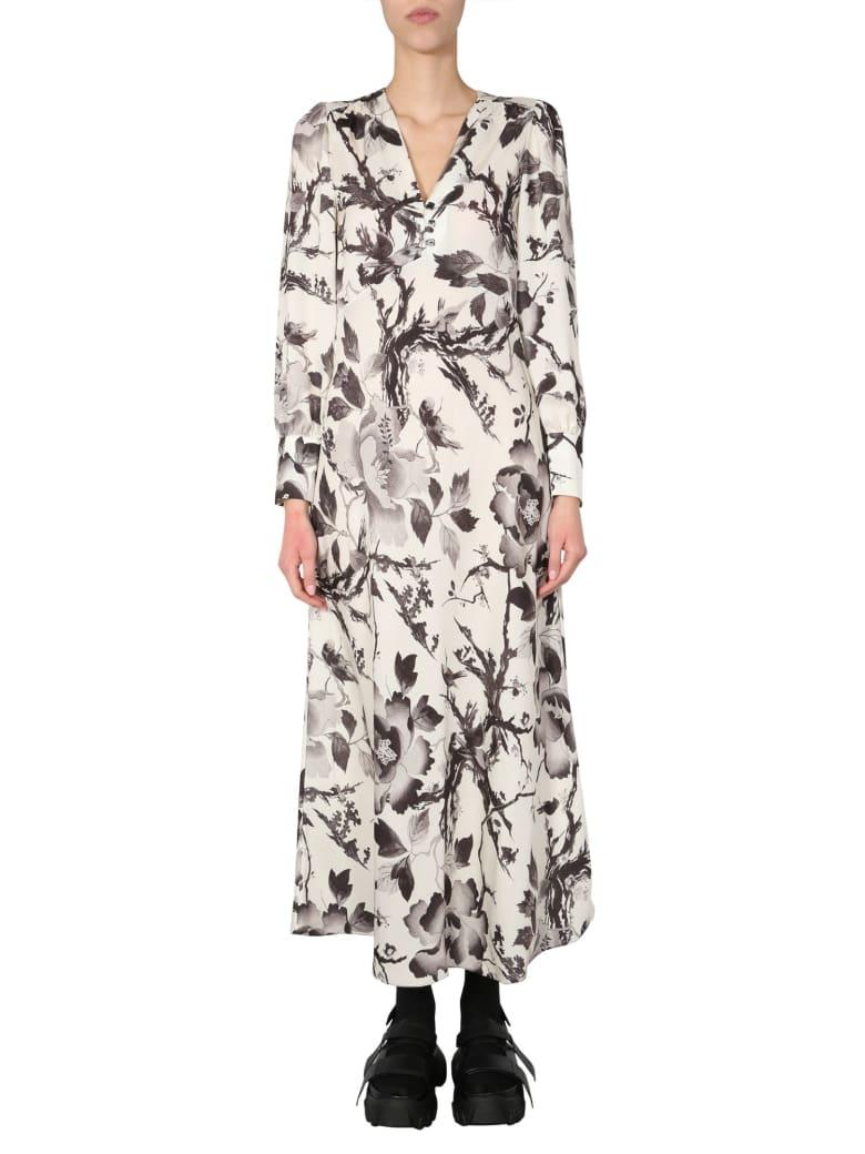 McQ Alexander McQueen V-neck Dress - BIANCO