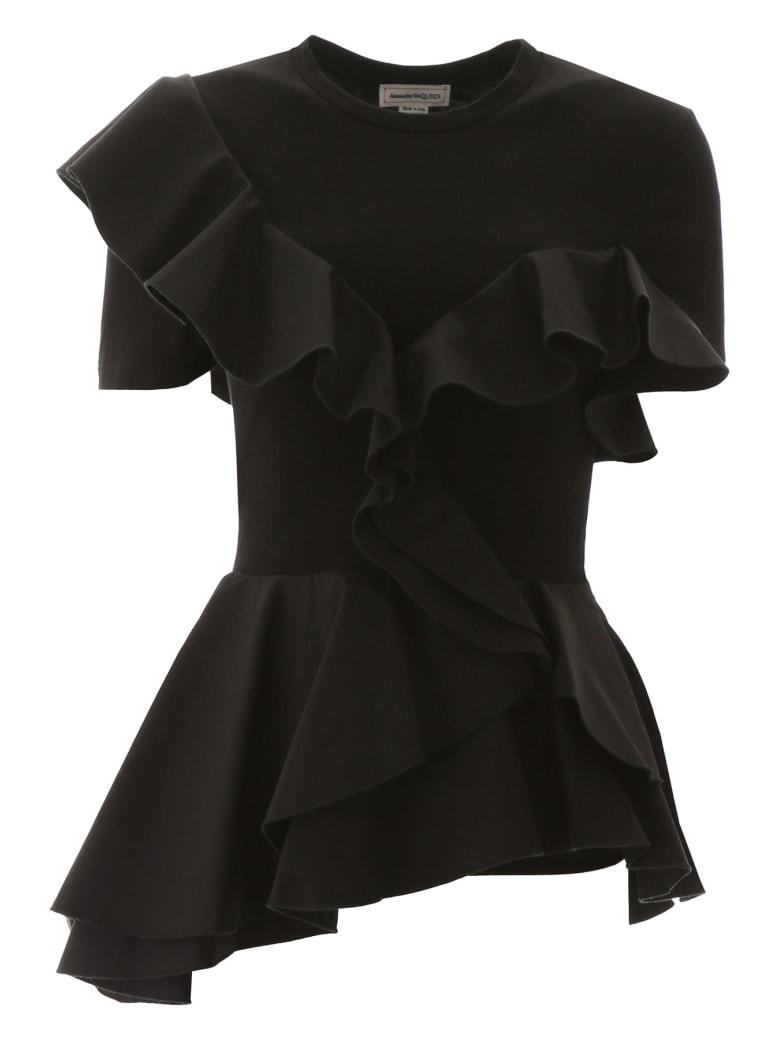 Alexander McQueen Ruffled Top - BLACK (Black)