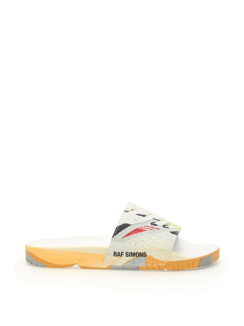 Adidas By Raf Simons Torsion Adilette Slides - FTWWHT CBLACK LGTGRE (White)