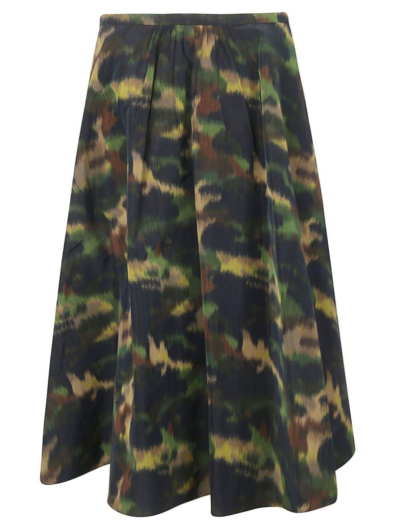 Rochas Pesca Skirt - Dark green