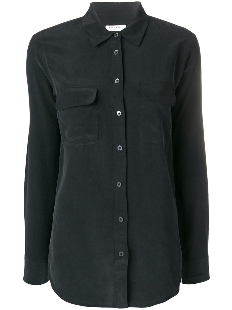 Equipment Black Silk Shirt - True Black