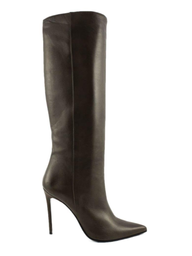 Aldo Castagna Olive Green Leather Coretta Boots - Oliva