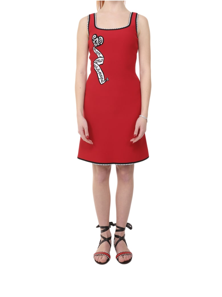 Alaia Azzedine Alaia Red Mon Coeur Mini Dress - Rosso/nero