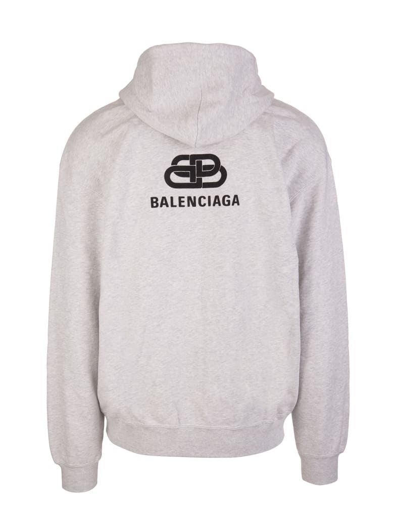 Balenciaga Bb Logo Hoodie - Lhg/black
