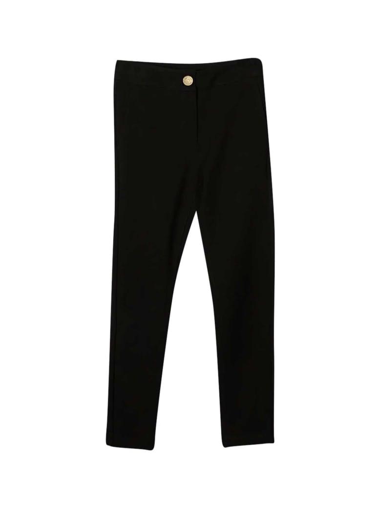 Moschino Black Slim Trousers Teen - Nero