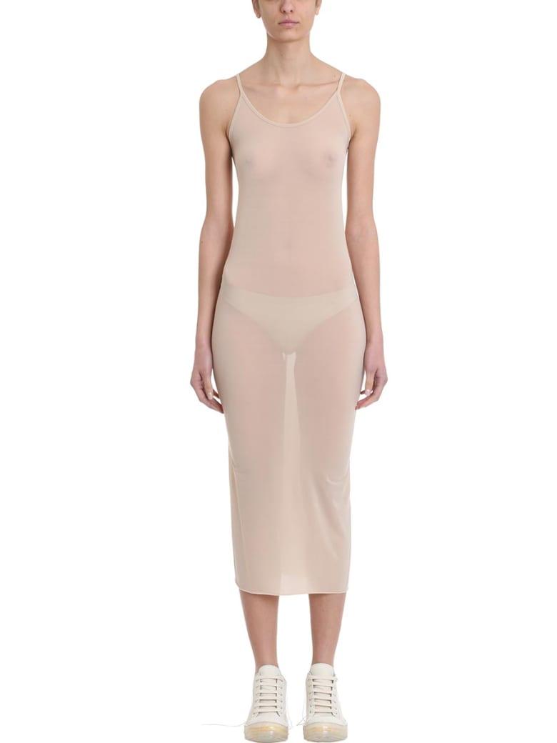 Rick Owens Lilies Nude Viscose Slip Dress - powder