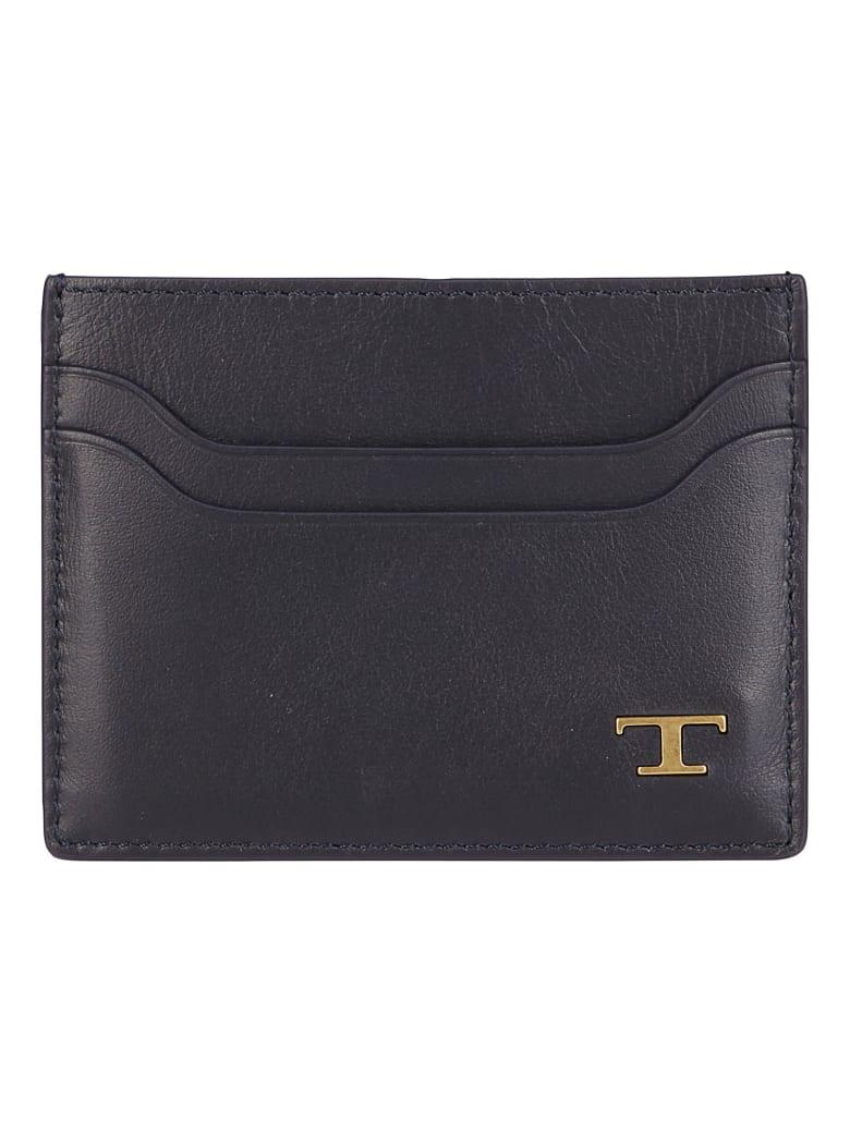 Tod's Black Leather Cardholder - Black